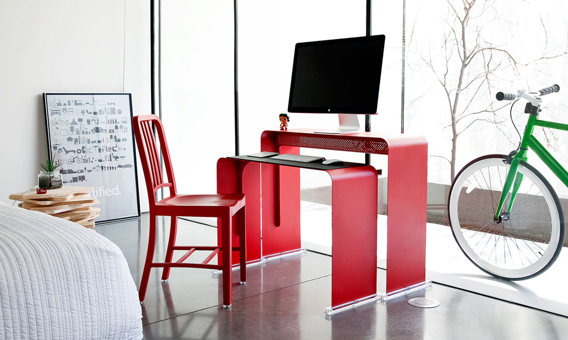 Heckler Design OneLessDesk - Red