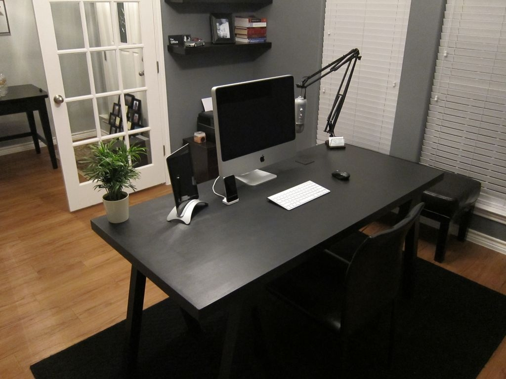 Jordan patterson s desk mac desks - Cheap black desks ...